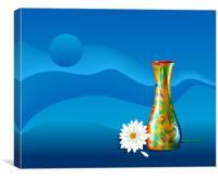 Gerbera Flower and Vase, Canvas Print