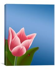 Tulip with Ladibug, Canvas Print