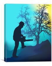 Landscape Worker, Canvas Print