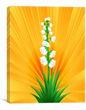 Blooming Yucca, Canvas Print