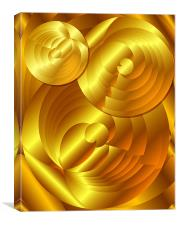 Abstract Gold Circles, Canvas Print