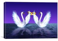 Swans Wedding, Canvas Print