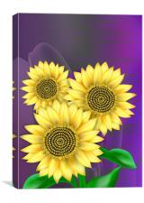Sunflowers Bright, Canvas Print