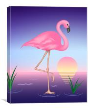 Pink Flamingo, Canvas Print