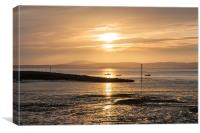 Morecambe sunset, Canvas Print