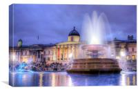 Trafalgar Square at Dusk, Canvas Print