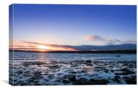 Sunset Across Mounts Bay, Canvas Print