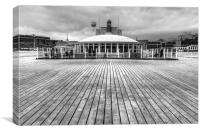 At the End of Bournemouth Pier, Canvas Print