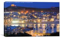 St Ives Harbour at dusk, Canvas Print
