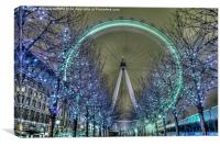 The London Eye at Night, Canvas Print