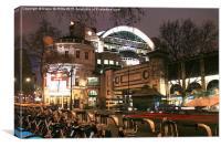 Charing Cross at Night, Canvas Print