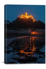 St Michael's Mount at Night, Canvas Print