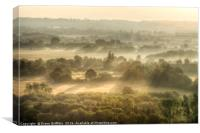 Kent Countryside at sunrise, Canvas Print