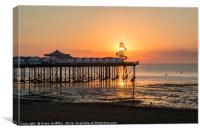 Herne Bay Pier Sunset, Canvas Print