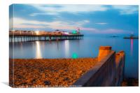 Herne Bay Pier at Twilight, Canvas Print