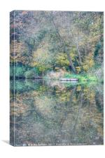 The Stafford and Worcestershire canal Penkridge, Canvas Print