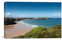 View over Newquay, Canvas Print