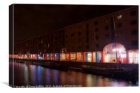 Royal Albert Dock and The Tate Gallery, Canvas Print