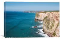 Cornish North Coast towards Watergate Bay, Canvas Print