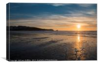 Fistral Beach Sunset, Canvas Print