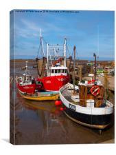 Norfolk Fishing Boats, Canvas Print