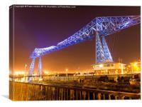 Transporter Bridge Illuminations, Canvas Print