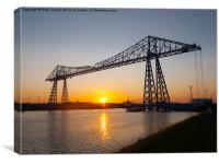 Transporter Bridge Sunset, Canvas Print