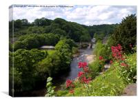 Richmond Bridge Yorkshire, Canvas Print