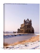 Whitby Abbey Winter, Canvas Print