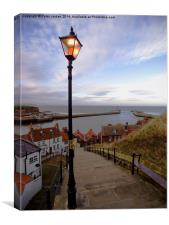 Whitby Evening 1, Canvas Print