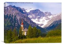 Alpine Church, Canvas Print