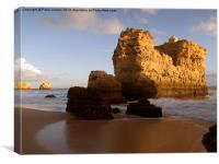 São Rafael beach Algarve Portugal, Canvas Print