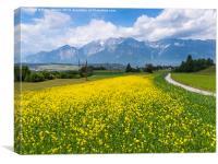 Jakobsweg path Austrian Tirol, Canvas Print