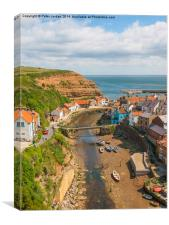 Staithes Harbour, Canvas Print
