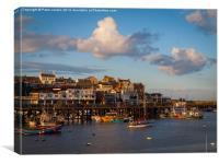 Bridlington Harbour Evening Light, Canvas Print