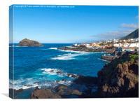 Seaside town Garachico Tenerife, Canvas Print