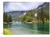 Austria Alpine Lake Church, Canvas Print
