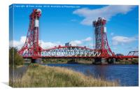 Newport road Bridge over the River Tees Middlesbro, Canvas Print