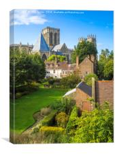 The view over the Deans Garden at York Minster Fr, Canvas Print