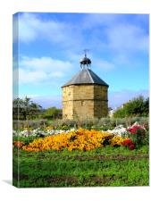 The old dovecot at the 14th century  Augustinian p, Canvas Print