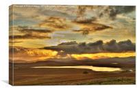 Sunset over Harris, Canvas Print
