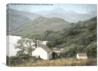 Loch Lomond cottage, Canvas Print