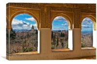 Windows on The Alhambra, Canvas Print