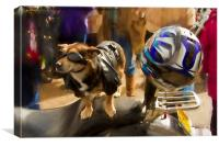 Biker Dog, Canvas Print