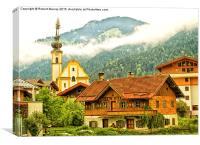 Alpine Village Austria, Canvas Print