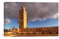 Sunset on Koutoubia Mosque, Canvas Print