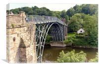 The Iron Bridge, Canvas Print