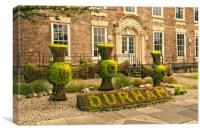 Durham Floral Display, Canvas Print
