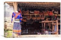 Vietnamese Village Shop, Canvas Print
