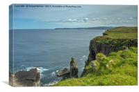 Handa Island Cliff View, Canvas Print